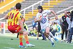 2014.04.19 Barcelona, Spain. Top 14. Usap v Toulon at Estadi Olimpic de BArcelona. Picture show MAtthew Giteau in action