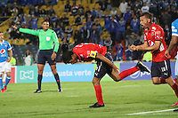 BOGOTA -COLOMBIA, 5-02-2017. Christian Marrugo player of Independiente Medellin celebrates his goal against Millonarios  during match for the date 1 of the Aguila League I 2017 played at Nemesio Camacho El Campin stadium . Photo:VizzorImage / Felipe Caicedo  / Staff