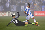 CD Leganes' Jonathan Cristian Silva and Sevilla FC's Andre Silva during La Liga match between CD Leganes and Sevilla FC at Butarque Stadium in Leganes, Spain. December 23, 2018. (ALTERPHOTOS/A. Perez Meca)