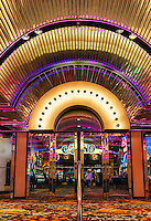 Bally's Casino entrance, Atlantic City, New Jersey, USA