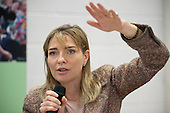 Councillor Philippa Roe, newly elected Leader or Westminster City Council, addresses a community conference on 'localsim' organsied by the Paddington Development Trust.