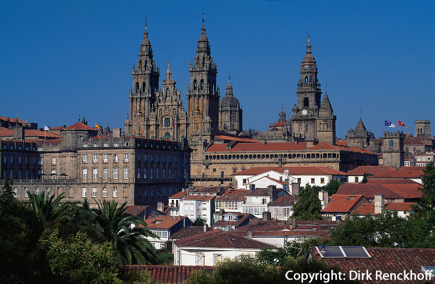 Kathedrale in Santiago de Compostella, Galicien, Spanien, Unesco-Weltkulturerbe.