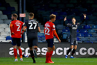 31st October 2020; Kenilworth Road, Luton, Bedfordshire, England; English Football League Championship Football, Luton Town versus Brentford; Marcus Forss of Brentford celebrates after he scores for 0-3 in the 75th minute