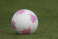 A ball is seen during a Brazil Women training session at Cardiff University, Cardiff, Wales - 27/07/12 - MANDATORY CREDIT: Gavin Ellis/SHEKICKS/TGSPHOTO - Self billing applies where appropriate - 0845 094 6026 - contact@tgsphoto.co.uk - NO UNPAID USE.