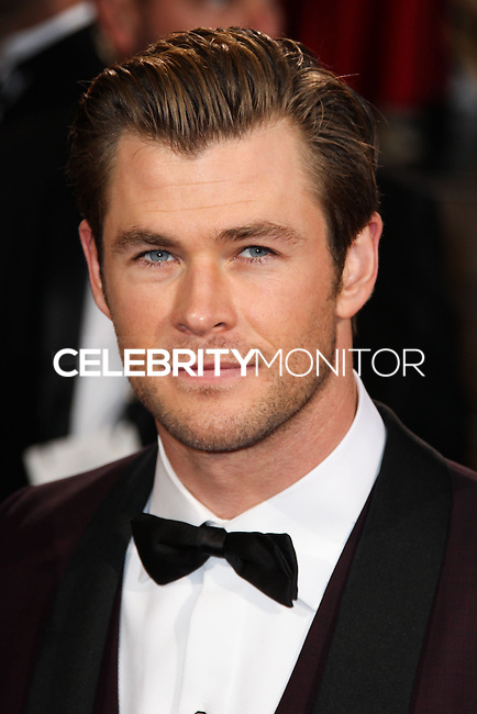 HOLLYWOOD, CA, USA - MARCH 02: Chris Hemsworth at the 86th Annual Academy Awards held at Dolby Theatre on March 2, 2014 in Hollywood, Los Angeles, California, United States. (Photo by Xavier Collin/Celebrity Monitor)