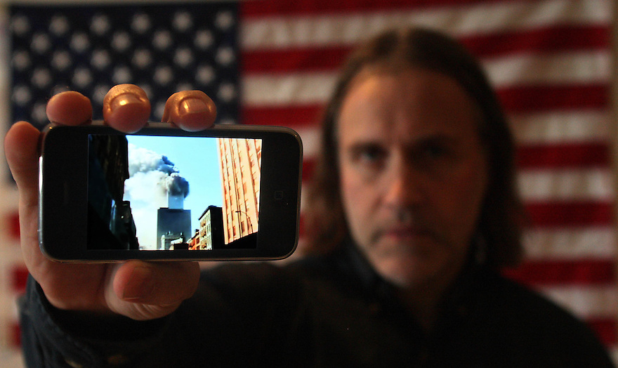 New York based Kim Hill is a volunteer for the Republican cause, often travelling interstate to help rally support. He says his motivation is national security, and is displaying video he shot of one of  the World Trade Centre towers collapsing during the 9/11 attacks