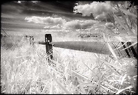 Fence Post and Clouds<br />