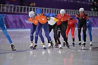 OLYMPIC GAMES: PYEONGCHANG: 24-02-2018, Gangneung Oval, Long Track, Mass Start Men, Koen Verweij (NED), Sven Kramer (NED), ©photo Martin de Jong