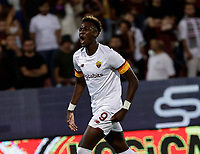 29th August 2021;  Estadio Arechi, Salerno, Campania, Italy;  Serie A Football league, Salernitana versus Roma; Tammy Abraham of AS Roma celebrates after scoring for  3-0 in 69th minute