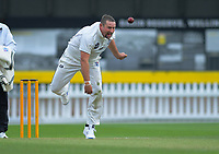 Auckland's Matt McEwen bowls during day two of the Plunket Shield cricket match between the Wellington Firebirds and Auckland at Basin Reserve in Wellington, New Zealand on Saturday, 9 November 2019. Photo: Dave Lintott / lintottphoto.co.nz