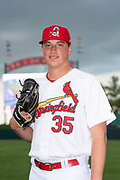Springfield Cardinals pitcher Evan Kruczynski (35) poses for a photo before a Texas League game against the Amarillo Sod Poodles at Hammons Field on April 25, 2019 in Springfield, Missouri. (Zachary Lucy/Four Seam Images)