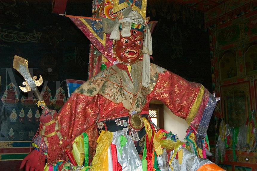 Mahakala statue in the Lhakhang Karporling of the Litang Chode Monastery - Kham, China, (Tibet)