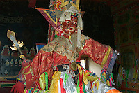 Mahakala statue in the Lhakhang Karporling of the Litang Chode Monastery - Kham, China, (Tibet)