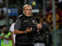 29th August 2021;  Estadio Arechi, Salerno, Campania, Italy;  Serie A Football league, Salernitana versus Roma; Fabrizio Castori coach of Salernitana