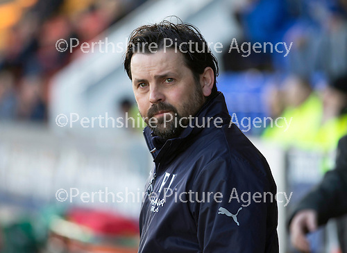 St Johnstone v Dundee....11.04.15   SPFL<br /> Dundee manager Paul Hartley<br /> Picture by Graeme Hart.<br /> Copyright Perthshire Picture Agency<br /> Tel: 01738 623350  Mobile: 07990 594431