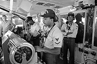 - Command bridge of Kennedy aircraft carrier in Mediterranean, September 1988<br /> <br /> <br /> <br /> - Plancia di comando della  portaerei Kennedy in Mediterraneo, settembre 1988