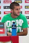 Rayo Vallecano's new player Ruben Ivan Martinez Andrade during his presentation. July, 20, 2012. (Alterphotos/Ricky)