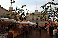 The village square is transformed into apiarian market for the Mouans-Sartoux festival.