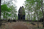 Angkorian temple Prasat Neang Khmau at Koh Ker (early 10th century).<br /> Koh Ker temple complex is a remote archaeological site in the jungle of Preah Vihear province in northern Cambodia. Inscriptions found at the site say the name of the ancient town was Chok Gargyar. Briefly in the reign of Jayavarman IV and Harshavarman II (928–944 AD) it was the capital of the Khmer Empire.Koh Ker was also known as Lingapura (City of Lingams), all of the monuments here are dedicated to Hindu deities, mainly Shiva.