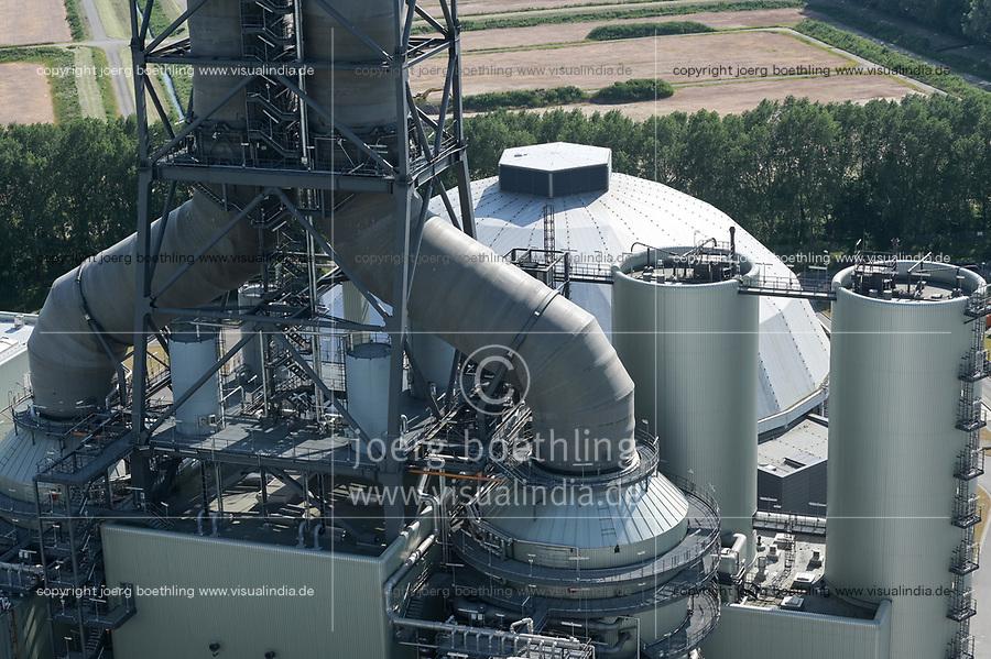 Germany, Hamburg, Vattenfall coal power station Moorburg / DEUTSCHLAND, Hamburg, Vattenfall Kohlekraftwerk Moorburg, in Betriebnahme 2015, letzter Betrieb vor endgültiger Abschaltung im Juli 2021, Schornsteine der Rauchgasreinigung