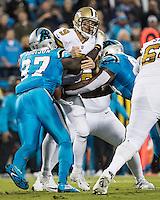 Charlotte, NC - November 17, 2016: The Carolina Panthers play the New Orleans Saints at Bank of America Stadium.