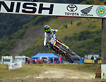 Flynn Watts competes in 12-14 years 125cc race two. 2021 New Zealand Motocross Grand Prix at Old Gorge Road in Woodville , New Zealand on Saturday, 30  January 2021. Photo: Dave Lintott / lintottphoto.co.nz