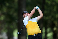 SAPPHIRE, NC - OCTOBER 01: Clifford Foster of Virginia Commonwealth University tees off at The Country Club of Sapphire Valley on October 01, 2019 in Sapphire, North Carolina.