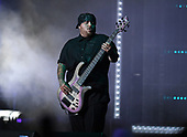 WEST PALM BEACH, FL - AUGUST 05: Reginald Arvizu of Korn performs at The iTHINK Financial Amphitheatre on August 5, 2021 in West Palm Beach Florida. Credit Larry Marano © 2021