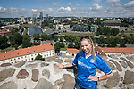 FK Trakai v St Johnstone…05.07.17… Europa League 1st Qualifying Round 2nd Leg<br />Saints fans in Vilnius ahead of kick off, Beverley Morrison from Bridge of Earn<br />Picture by Graeme Hart.<br />Copyright Perthshire Picture Agency<br />Tel: 01738 623350  Mobile: 07990 594431