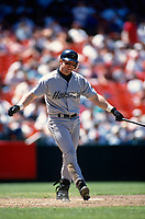 SAN FRANCISCO, CA:  Jeff Bagwell of the Houston Astros bats during a game against the San Francisco Giants at Candlestick Park in San Francisco, California in 1994. (Photo by Brad Mangin)