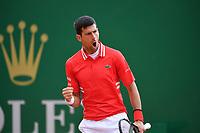 14th April 2021; Roquebrune-Cap-Martin, France; Novak Djokovic Ser during the  Rolex Monte Carlo Masters