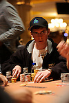 """Andrew """"LuckyChewy"""" Lichtenberger is in the chip lead during the final level of play."""