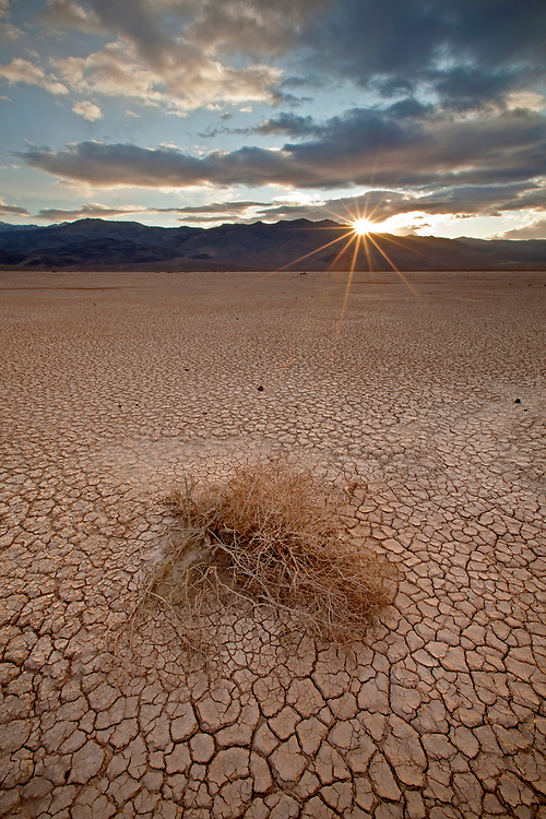 Cracked mud in the Panamint Dry Lake in Death Valley National Park, California, USA