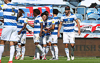 Queens Park Rangers players celebrating the third goal during Queens Park Rangers vs Millwall, Sky Bet EFL Championship Football at Loftus Road Stadium on 18th July 2020
