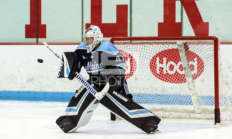 BOSTON, MA - JANUARY 04: Loryn Porter #41 of Univerisity of Maine prior to during a game between University of Maine and Boston University at Walter Brown Arena on January 04, 2020 in Boston, Massachusetts.