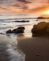A golden sunset on the Gaviota Coast, Santa Barbara California