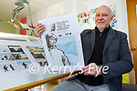 Ron Van Der Noll displaying the illustrations in his new Tom Crean book which will be published shortly.