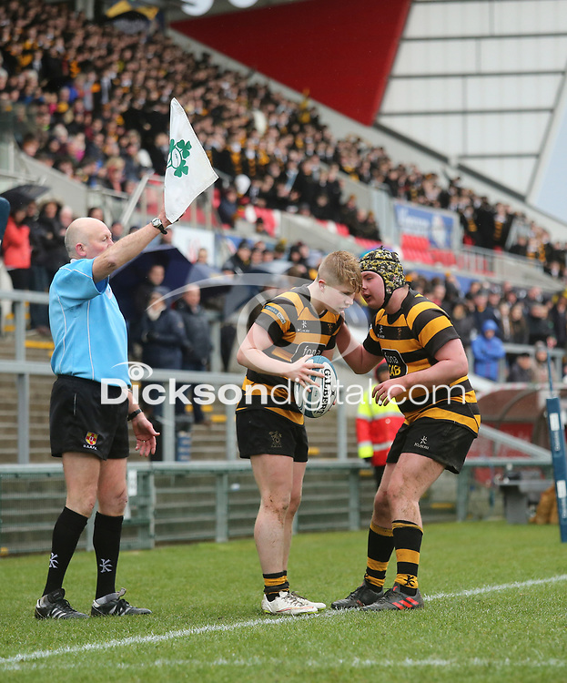 Wednesday 7th March 2018 |  RBAI vs Royal School Armagh<br /> <br /> Connor McCormick and Ethan Sloan during the Ulster Schools Cup Semi-Final between RBAI vs Royal School Armagh Stadium, Ravenhill Park, Belfast, Northern Ireland. Photo by John Dickson / DICKSONDIGITAL