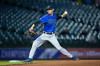 Duke Blue Devils starting pitcher Mitch Stallings (47) in action against the Clemson Tigers in Game Three of the 2017 ACC Baseball Championship at Louisville Slugger Field on May 23, 2017 in Louisville, Kentucky.  The Blue Devils defeated the Tigers 6-3.. (Brian Westerholt/Four Seam Images)