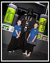 03/05/2009  Copyright  Pic : James Stewart.38_the_buzz.**** FREE FIRST USE WHEN USED IN RELATION TO  OPENING OF THE BUZZ ****.THE UK'S LARGEST SOFT PLAY AND LASER QUEST ARENA OPENS IN FALKIRK...... .ELLINS COLLINS (8) AND LAURYN TURNBULL (9) WITH DARTH VADER.....For more information contact Jonathan Kennedy or Alison Jack at Wave PR on 0141 303 8390 / 07803 137262..James Stewart Photography 19 Carronlea Drive, Falkirk. FK2 8DN      Vat Reg No. 607 6932 25.Telephone      : +44 (0)1324 570291 .Mobile              : +44 (0)7721 416997.E-mail  :  jim@jspa.co.uk.If you require further information then contact Jim Stewart on any of the numbers above.........