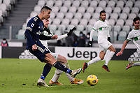 Cristiano Ronaldo of Juventus FC scores the goal of 3-1 during the Serie A football match between Juventus FC and US Sassuolo Calcio at Allianz stadium in Torino (Italy), January 10th, 2021. Photo Federico Tardito / Insidefoto