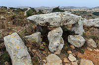 Dolmen bei Sannat auf Gozo, Malta, Europa
