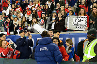 HARRISON, NJ - MARCH 08: Carli Lloyd #10 of the United States signs autographs for fans during a game between Spain and USWNT at Red Bull Arena on March 08, 2020 in Harrison, New Jersey.