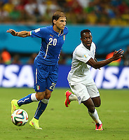 Gabriel Paletta of Italy and Daniel Welbeck of England in action