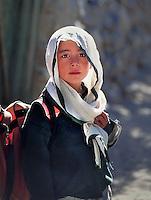Hunza Valley, Pakistan 1994. Schoolgirl, Gulmit, Pakistan, 1994