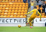 St Johnstone v Livingston….10.08.19      McDiarmid Park     SPFL <br />Lyndon Dykes takes his penalty<br />Picture by Graeme Hart. <br />Copyright Perthshire Picture Agency<br />Tel: 01738 623350  Mobile: 07990 594431