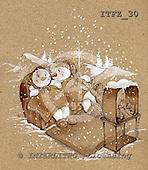 Fabrizio, Comics, CHRISTMAS SANTA, SNOWMAN, paintings, ITFZ30,#x# Weihnachten, Navidad, illustrations, pinturas
