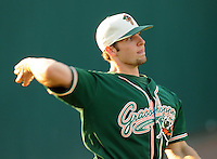 April 17, 2008: Infielder Ben Lasater (19) of the Greensboro Grasshoppers, Class A affiliate of the Florida Marlins, in a game against the Greenville Drive at Fluor Field at the West End in Greenville, S.C. Photo by:  Tom Priddy/Four Seam Images