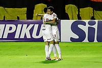 23rd August 2020; Estadio Ilha do Retiro, Recife, Pernambuco, Brazil; Brazilian Serie A, Sport Recife versus Sao Paulo; Pablo of Sao Paulo celebrates his goal with Vitor Bueno in the 5th minute for 0-1
