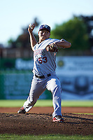 Mahoning Valley Scrappers pitcher Shao-Ching Chiang (53) delivers a pitch during a game against the Batavia Muckdogs on June 23, 2015 at Dwyer Stadium in Batavia, New York.  Mahoning Valley defeated Batavia 11-2.  (Mike Janes/Four Seam Images)